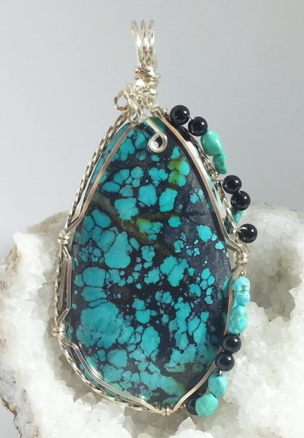 nut silver turquoise blue large green necklace dolphin taqua products pendant